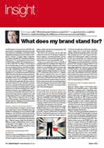What does my brand stand for? Leisure Report January 2008