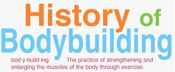 History bodybuilding infographic