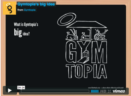 Short video explaining Gymtopia, a place where clubs do social good