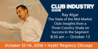 Ray Algar speaking at Club Industry fitness conference in Chicago during October 2016