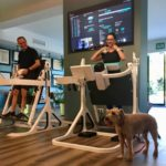 A man and woman using the Pendex machines Blum Body Balance studio, Marbella, Spain