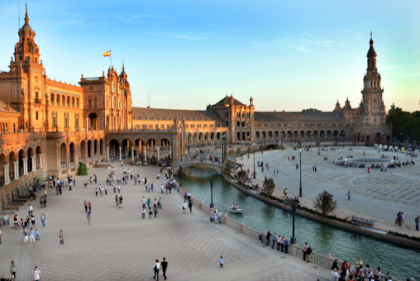 Stunning image of the University of Seville which was founded in 1505.